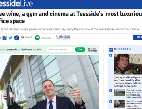 Free wine, a gym and cinema at Teesside's 'most luxurious' office space