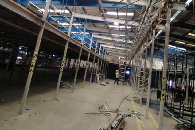 Warehouse 3 story mezzanine dilapidation