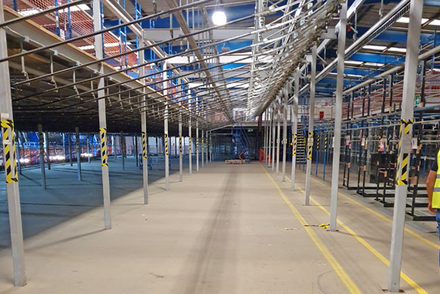 Converted to open plan warehouse